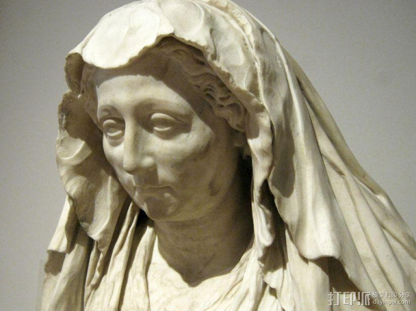Luisa Deti头像 3D打印模型渲染图