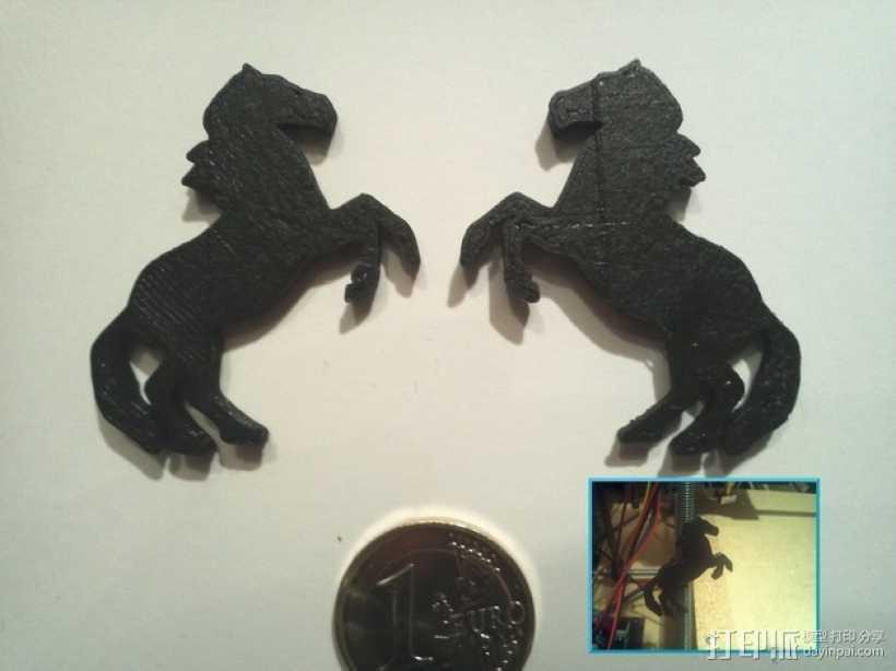 马形冰箱贴 3D打印模型渲染图