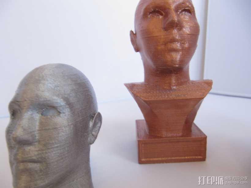 头像生成器 雕塑 3D打印模型渲染图