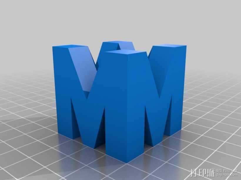 巨力集团标志 3D打印模型渲染图