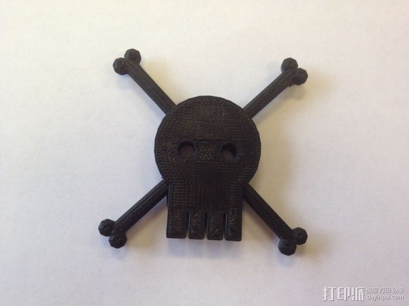 骷髅旗 3D打印模型渲染图
