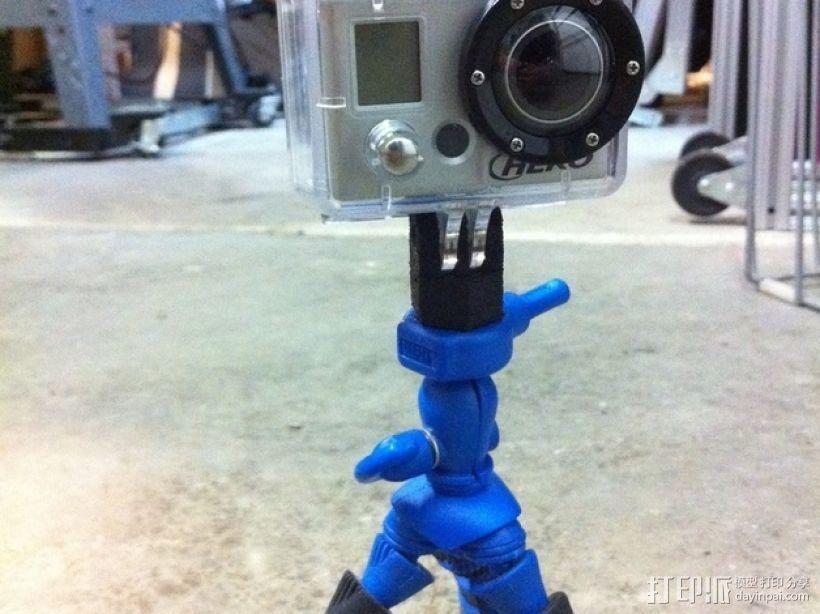GoPro相机三角架底座 3D打印模型渲染图