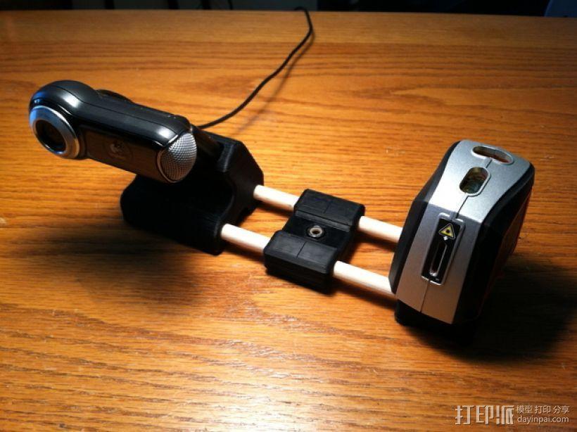 Makerscanner相机和激光器连接架 3D打印模型渲染图