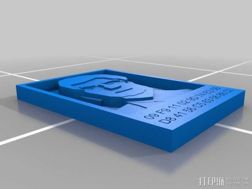 克里斯多夫·杜德肖像 3D打印模型渲染图