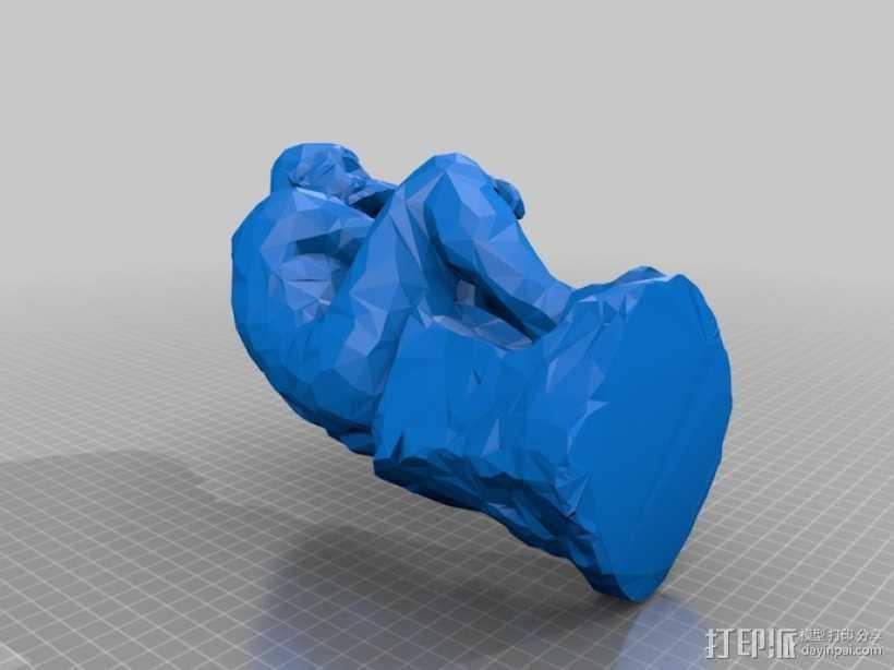 思想者 雕塑 3D打印模型渲染图