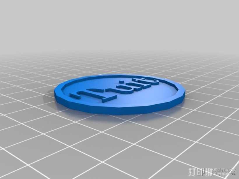 圆形坠饰 3D打印模型渲染图