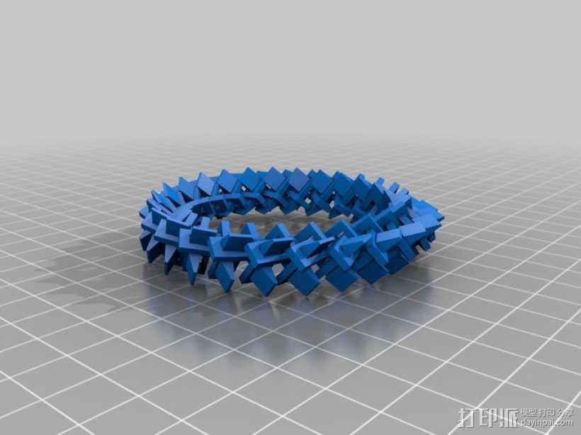 几何圆环 3D打印模型渲染图
