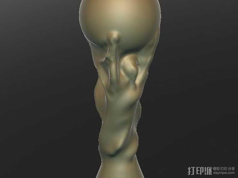 足联世界杯奖杯 3D打印模型渲染图