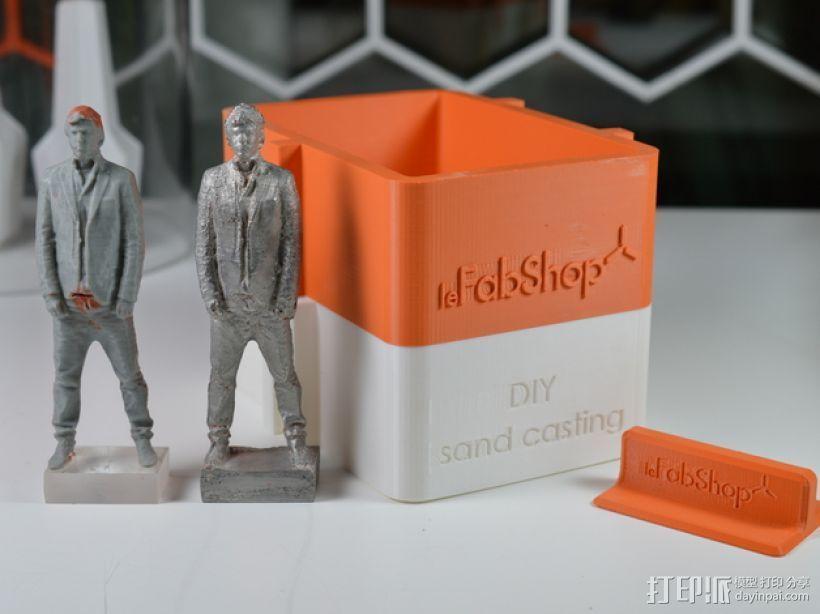 砂模铸造套件 3D打印模型渲染图