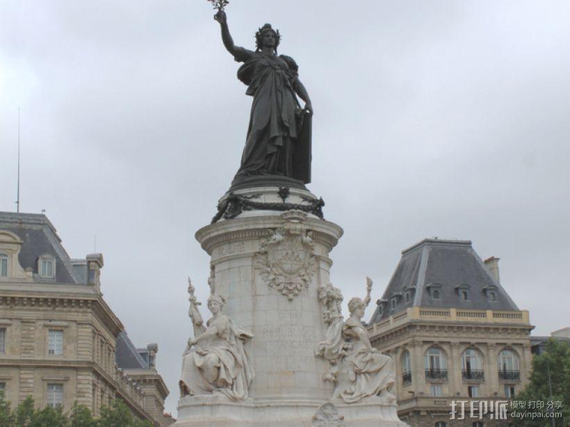 巴黎协和广场 3D打印模型渲染图