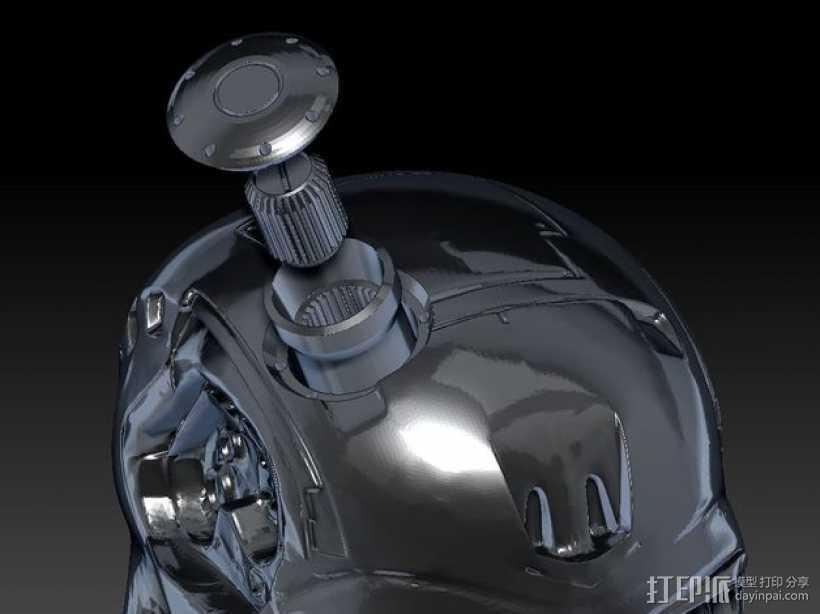 终结者骷髅头 3D打印模型渲染图