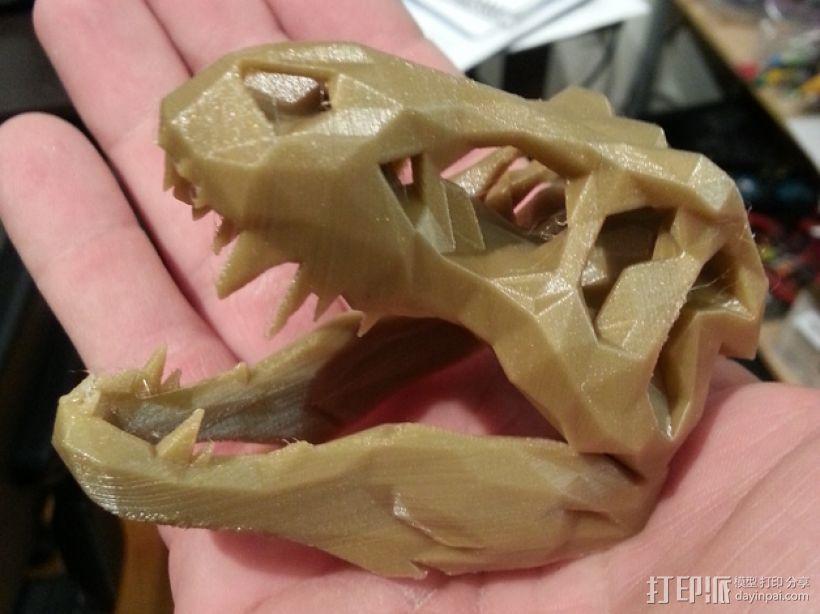 低面数 霸王龙头骨 3D打印模型渲染图