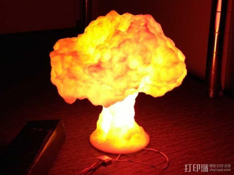 蘑菇云灯  3D打印模型渲染图