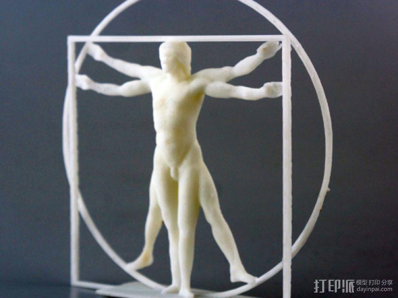 维特鲁威人 模型 3D打印模型渲染图