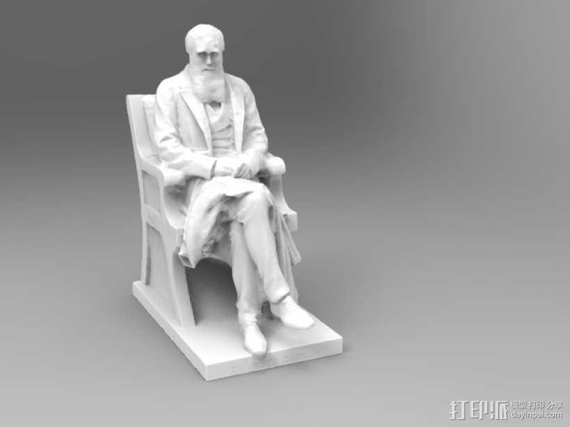 达尔文雕塑 3D打印模型渲染图