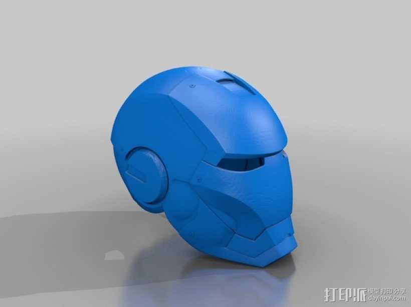 钢铁侠MK3头盔 3D打印模型渲染图