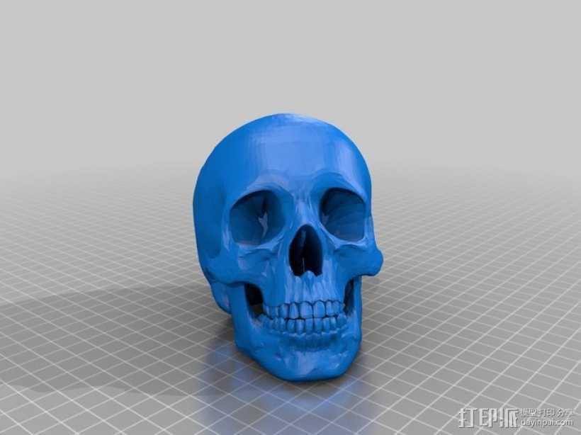 人头骨 3D打印模型渲染图