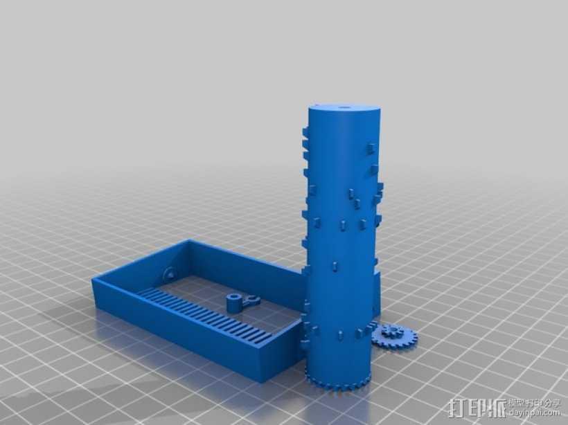 Hedwig音乐盒 3D打印模型渲染图