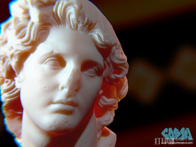 太阳神 头像雕塑 3D打印模型渲染图