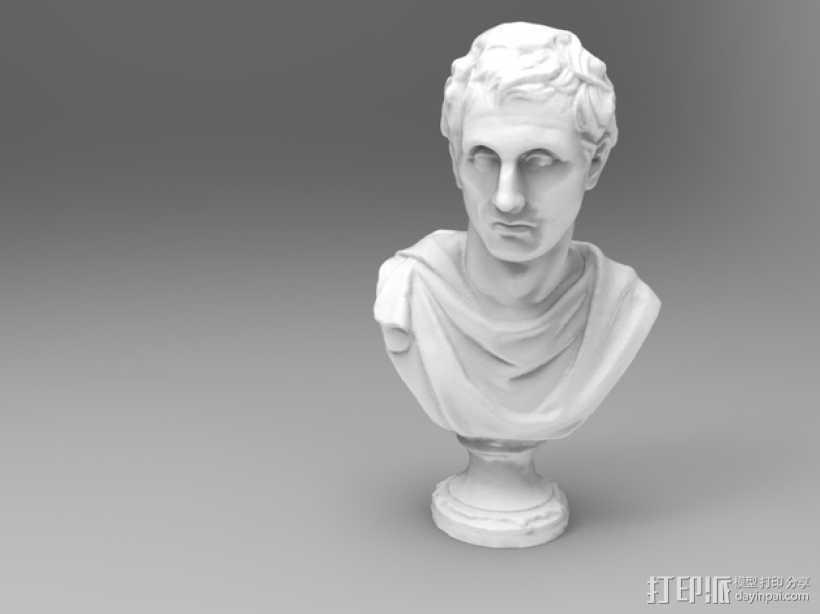 雅典剧作家米南德 雕像 3D打印模型渲染图
