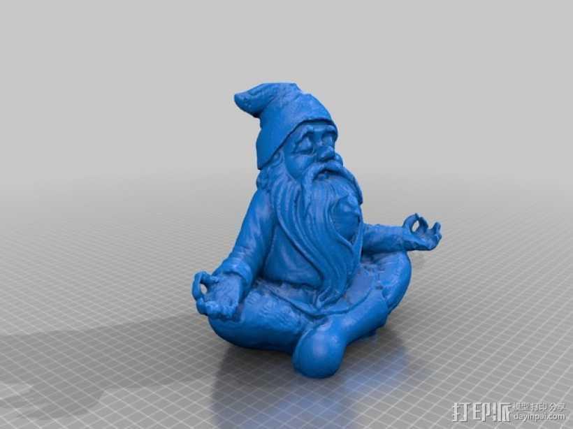 土地神 雕像 3D打印模型渲染图