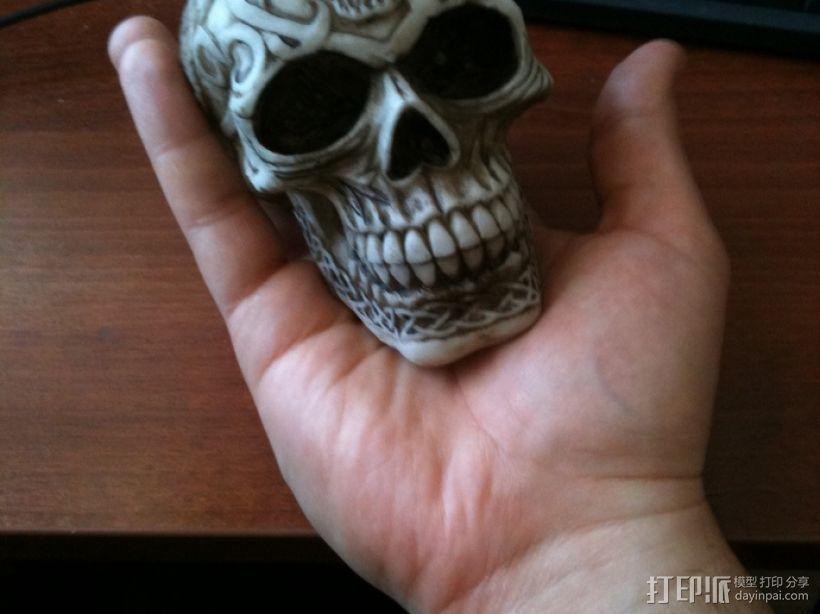 凯尔特人 头骨 3D打印模型渲染图