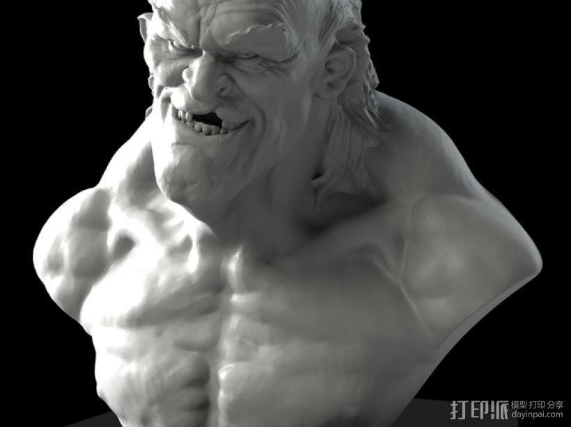 老怪物 雕像 3D打印模型渲染图
