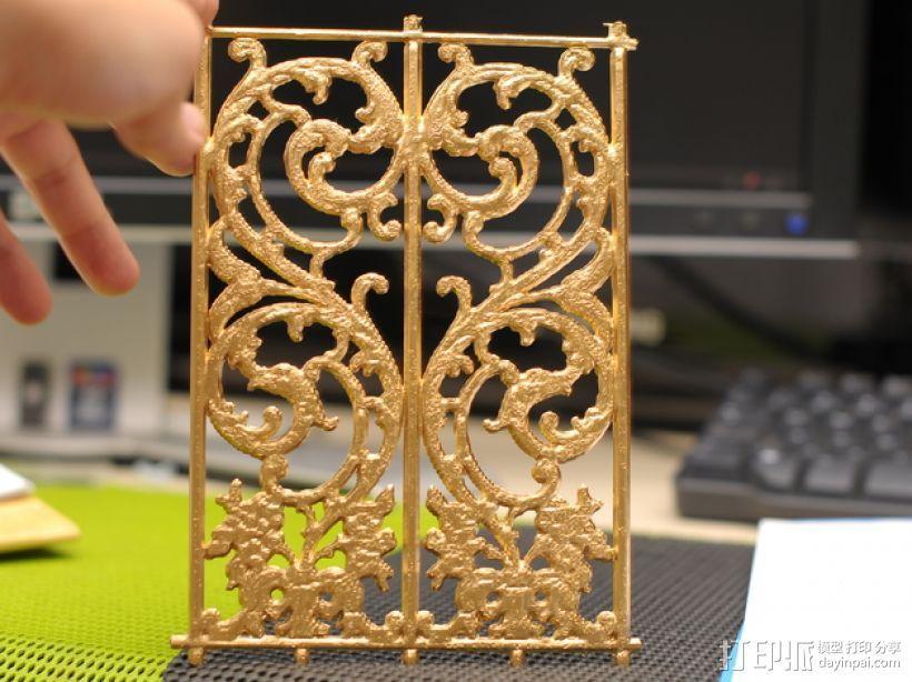 华丽的铁门 3D打印模型渲染图