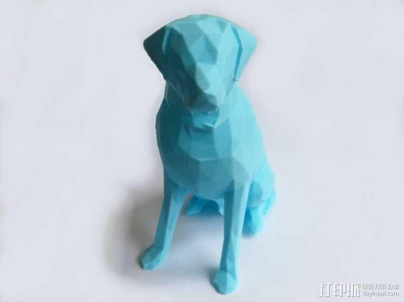 低面数 拉布拉多犬 模型 3D打印模型渲染图