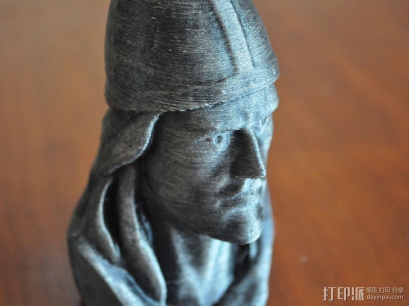 Leif Erickson头像雕像 3D打印模型渲染图