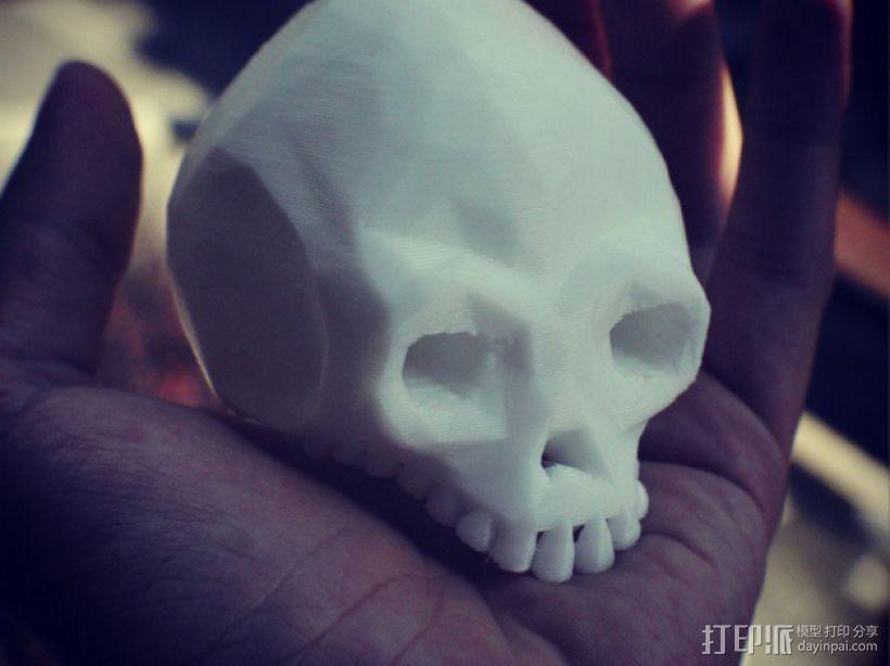 低面数头骨 3D打印模型渲染图