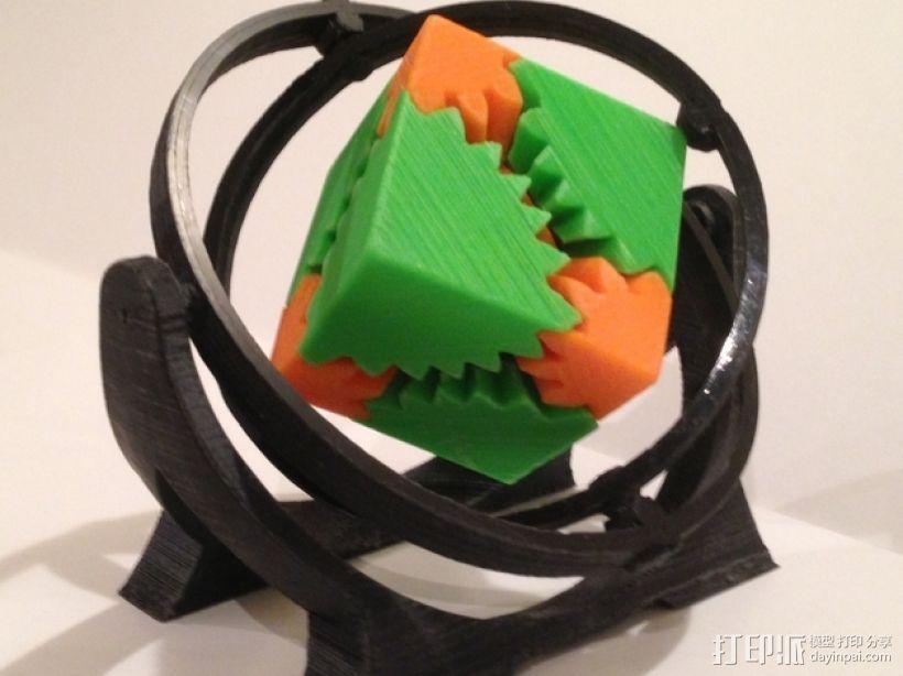 回转仪 3D打印模型渲染图
