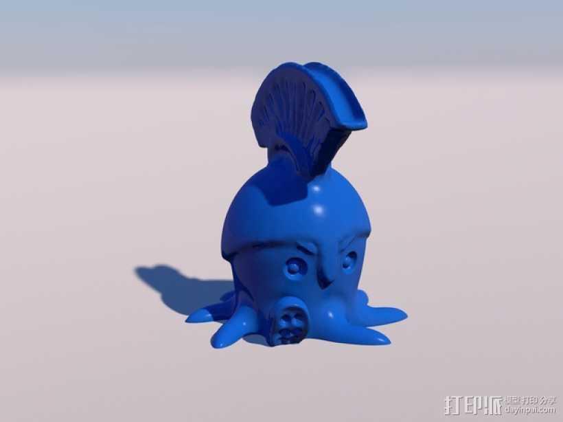 章鱼战士 3D打印模型渲染图