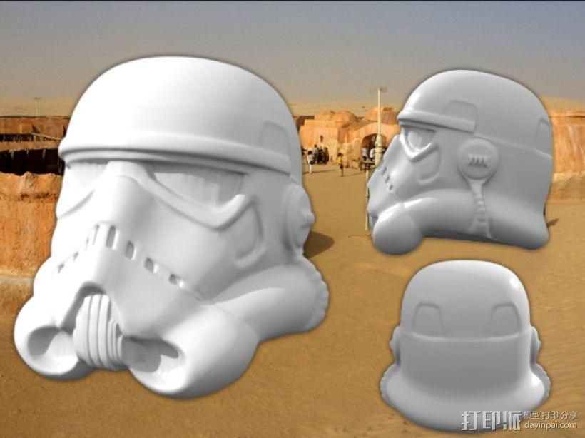 突击队员 雕塑 3D打印模型渲染图