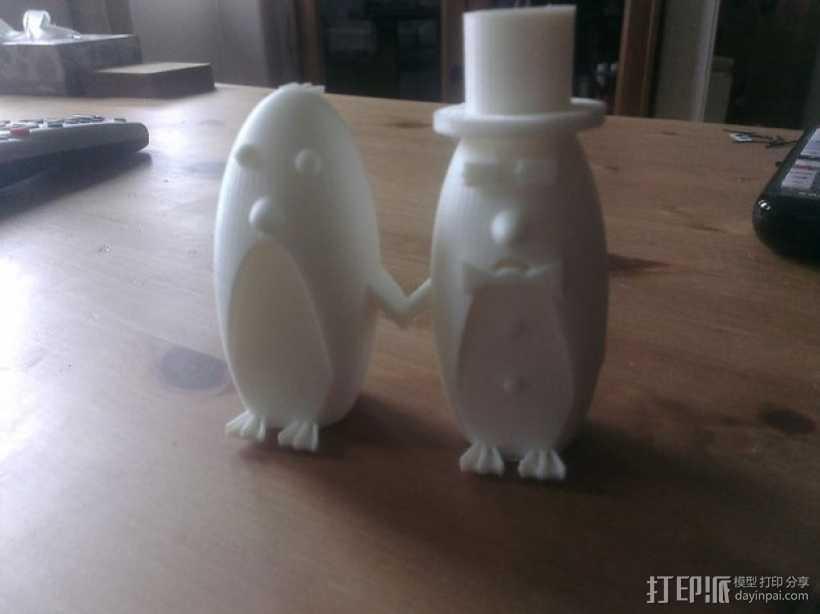 企鹅 蛋糕装饰 3D打印模型渲染图