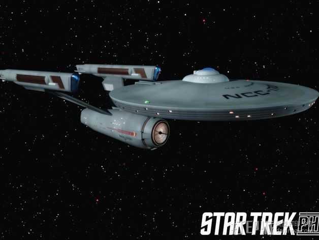 星际迷航 飞行器 模型 3D打印模型渲染图