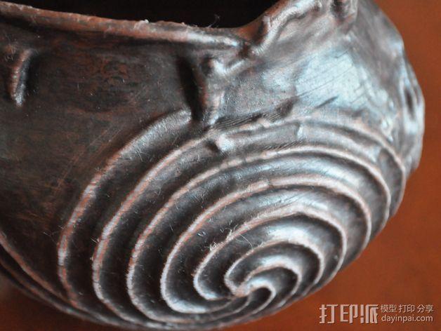 土著居民 螺纹壶模型 3D打印模型渲染图
