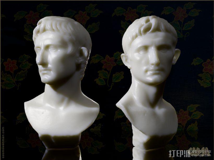 奥古斯都 雕像模型 3D打印模型渲染图