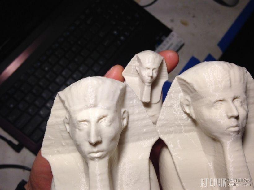 法老王雕塑 3D打印模型渲染图
