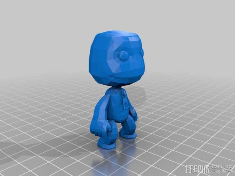 小小大星球的萨克男孩 3D打印模型渲染图