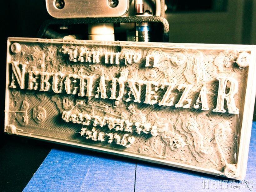 Nebuchadnezzar Placard浮雕模板 3D打印模型渲染图