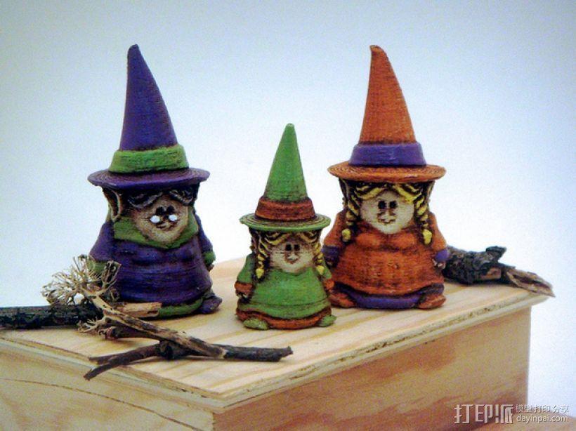 小矮人女巫 雕塑 3D打印模型渲染图