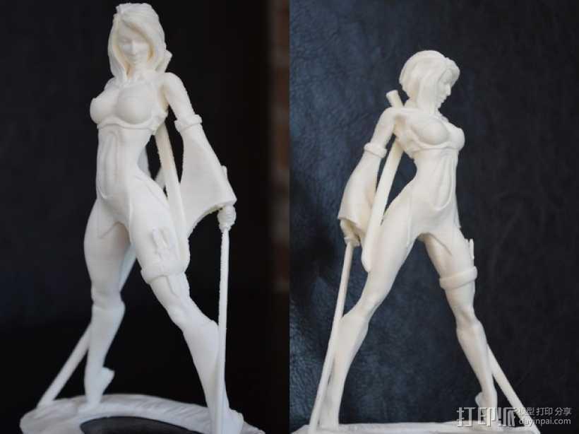 Akiko吉田亚纪子 人物模型 3D打印模型渲染图