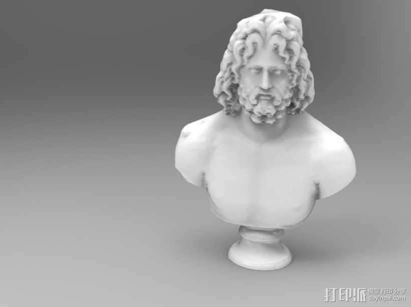 宙斯雕像 3D打印模型渲染图