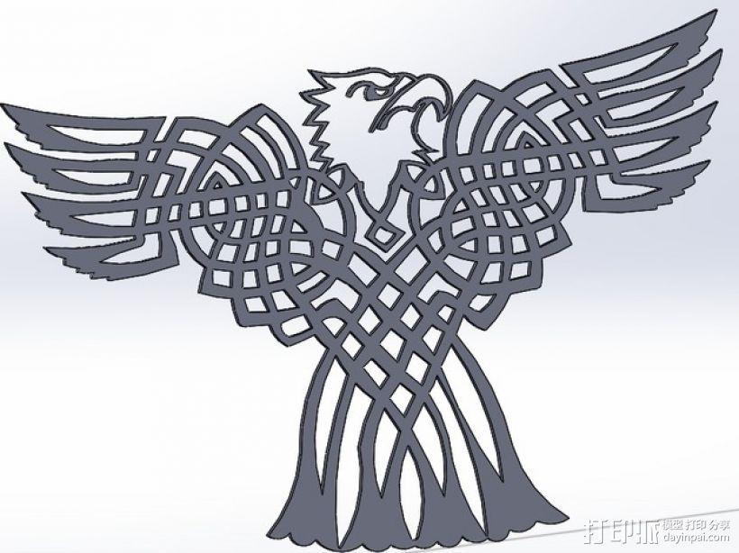 凯尔特 秃鹰 3D打印模型渲染图