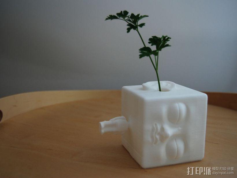 木头人 笔筒 3D打印模型渲染图