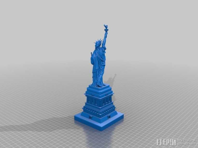 自由女神像 雕塑模型 3D打印模型渲染图