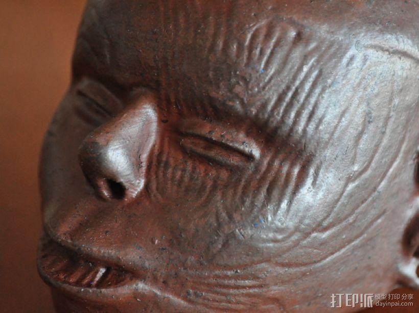 土著居民 头形壶 3D打印模型渲染图