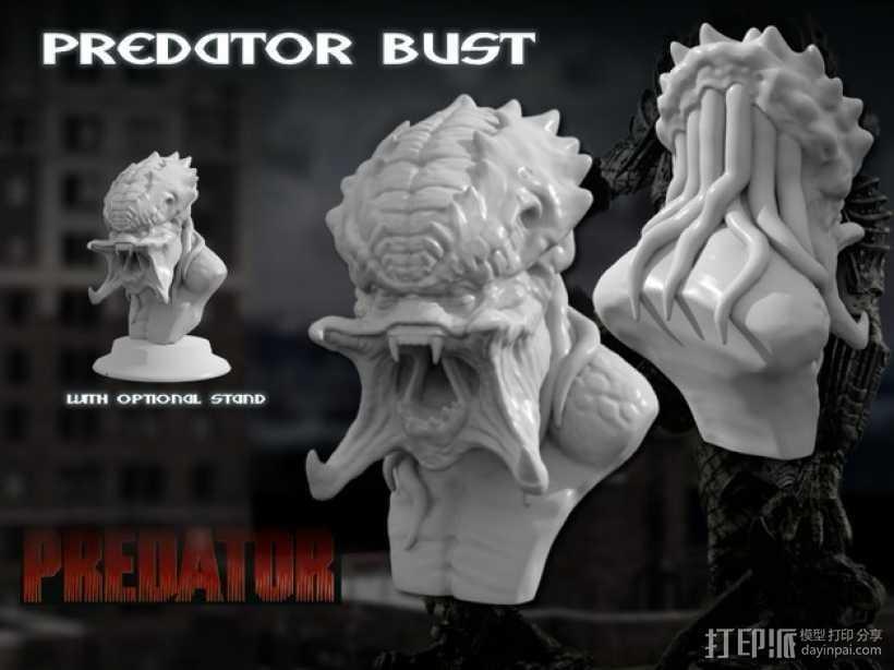 怪物半身头像 3D打印模型渲染图