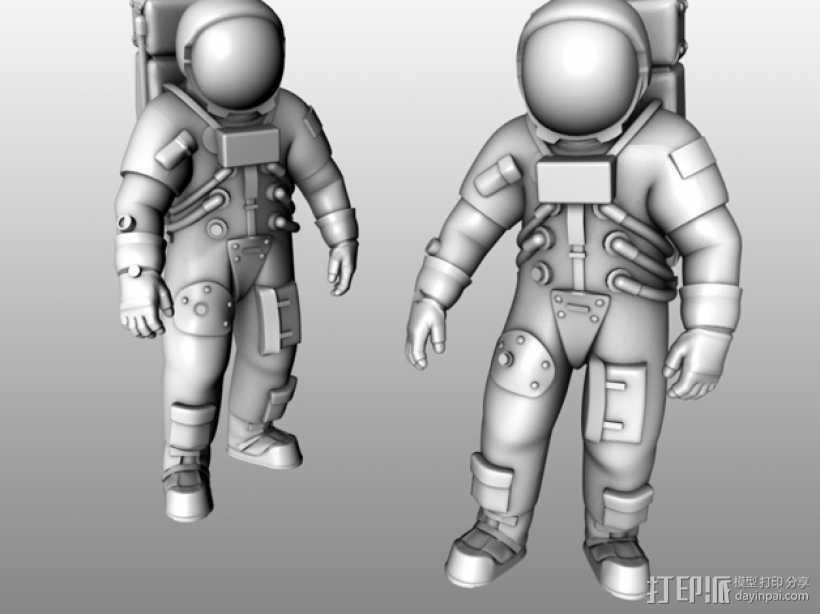 阿波罗号宇航员 模型 3D打印模型渲染图